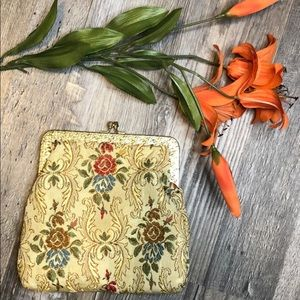 Vintage 1950's La Regale Ltd. Tapestry Clutch Bag